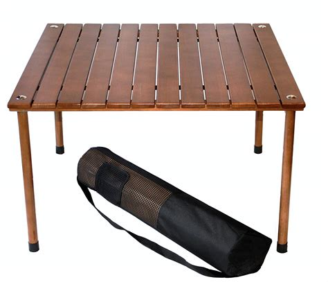 table in a bag portable folding cing picnic table wood low desk indoor