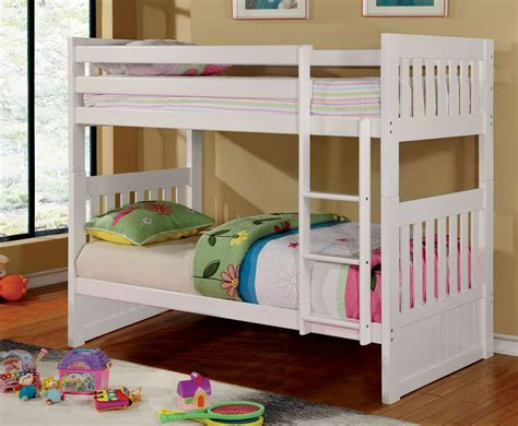 white bunk beds twin over twin twin over twin canberra mission style white bunk bed