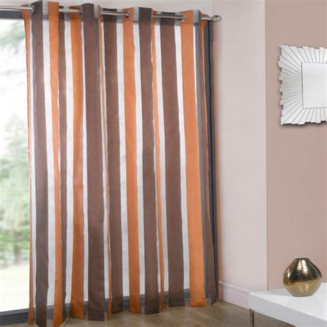 organza voile curtains cairo organza stripe voile eyelet curtain panel ebay