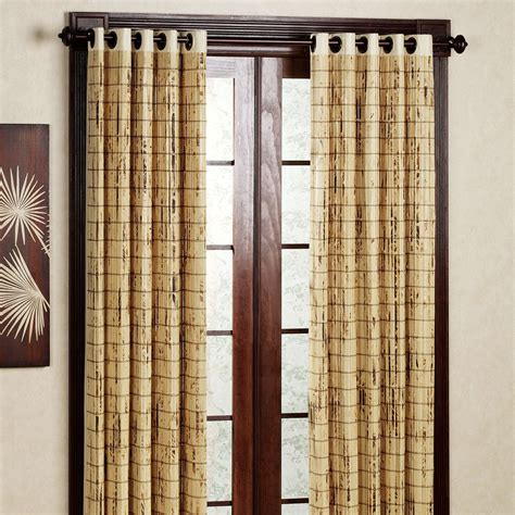 curtain bamboo bamboo grommet window panels