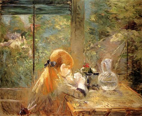 Berthe Morisot In The Dining Room by Arte Ed Antiquariato Berthe Morisot L Unica Donna