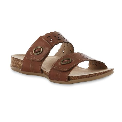 sandals for wide width earth origins s tessa brown leather slide sandal