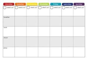 Plan Of The Week Template by More Free Printable Menu Plans Picklebums
