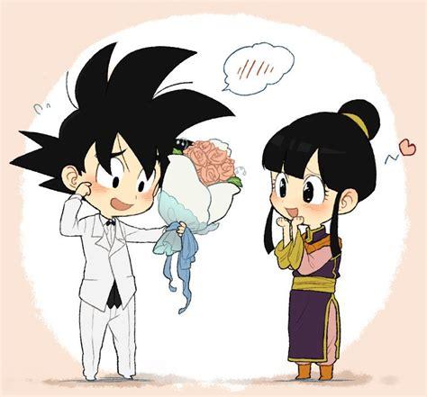 imagenes de amor goku y milk goku and chichi quot goku y milk quot pinterest
