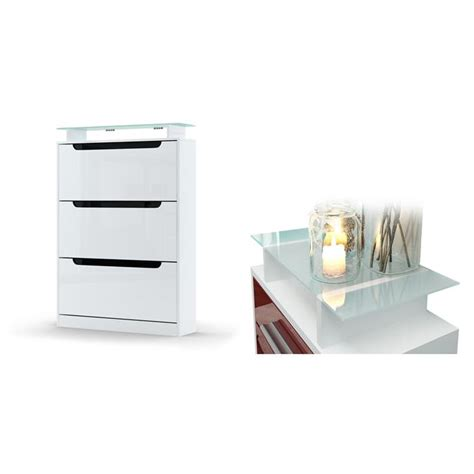 white gloss shoe storage shoe storage rack cabinet organizer space in white high
