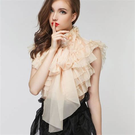 Ruffle Korea Top Blouse ruffled collar blouse promotion shop for promotional