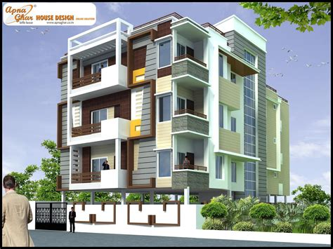 3 floor house design independent floor design apnaghar house design page 2
