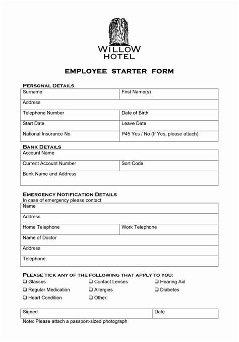 New Hire Forms Template