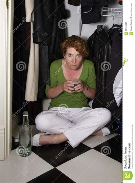 Closet Drinker ashamed closet drinker royalty free stock image image