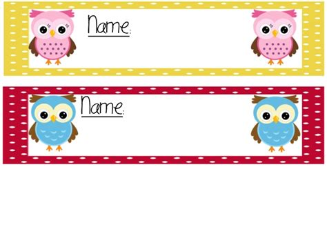 printable owl name tags 9 best images of table name tags printable for fall