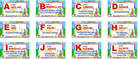 Alfabet Islam alphabet abc s in islam for muslem pupils im s package
