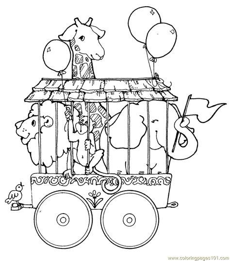 coloring pages circus train animals animals gt circus