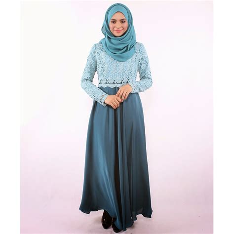 Syari Maxi Maxy Dress Gamis Muslim edz allya floral lace muslimah maxi dress muslimah fashion on carousell