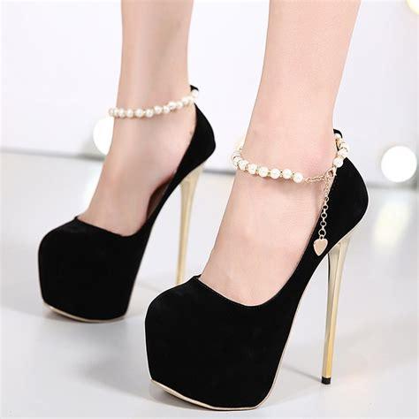 black prom high heels decorative bead black high heeled prom shoes 12583976