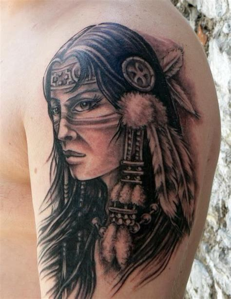 tattoo images indian native american tattoos native girl tattoo on shoulder