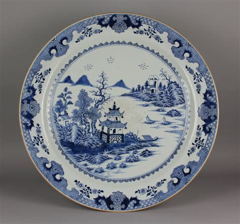 blue and white porcelain a large chinese blue and white porcelain charger c 1750