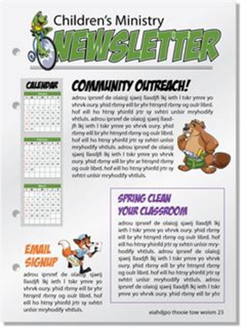 sunday school newsletter templates 1000 images about children s ministry on