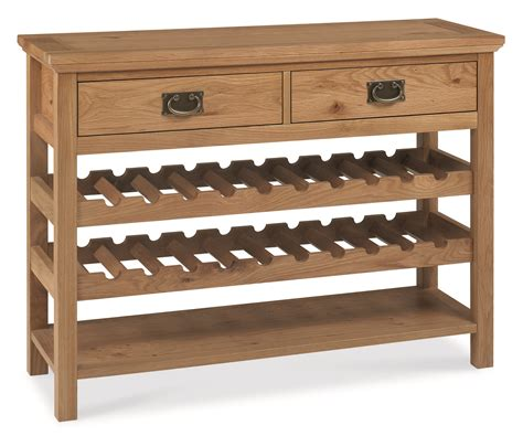 Solid Oak Dining Room Sets provence oak console table with wine rack over 50 off