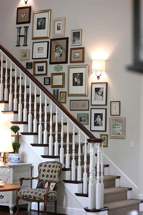 Staircase Wall Ideas 20 Stairway Gallery Wall Ideas Home Design And Interior