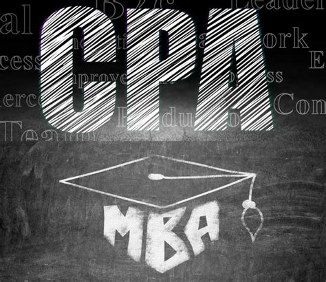 Cpa From Mba by Cpa Vs Mba Which Letters A Name Would Help An