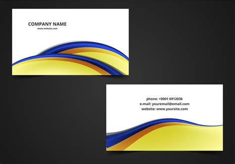 free visiting card free vector abstract visiting card free vector