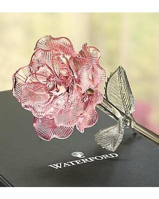 bargains  waterford glass rose waterford