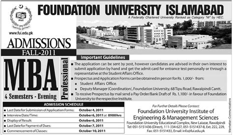 Mba Admission In Pakistan by Admission In Pakistan Mba In Foundation