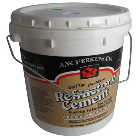 Fireplace Refractory Cement by Tub Of Premixed Buff Finish High Temperature Refractory Cement