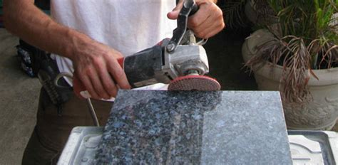 Polishing Granite Countertop by How To Install A Granite Tile Countertop Today S Homeowner