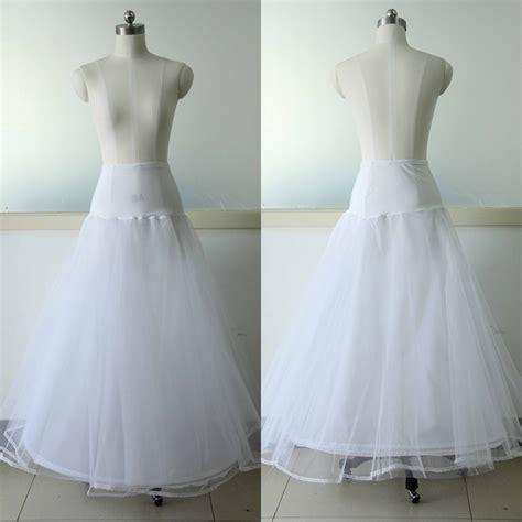 White Wedding Dress Petticoat A line Petticoat 1 Hoop