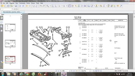 mercedes sprinter 2003 parts manual