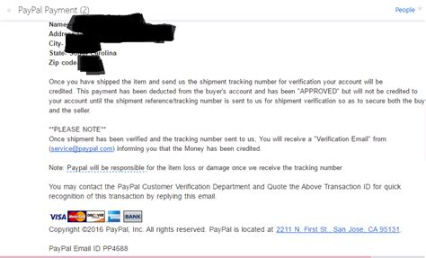 solved buyer insists that i send my paypal information fo solved scam paypal community