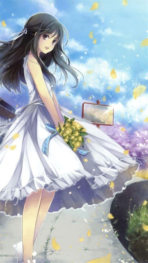 wallpaper iphone 5 romantic romantic anime girl wallpaper for iphone 5