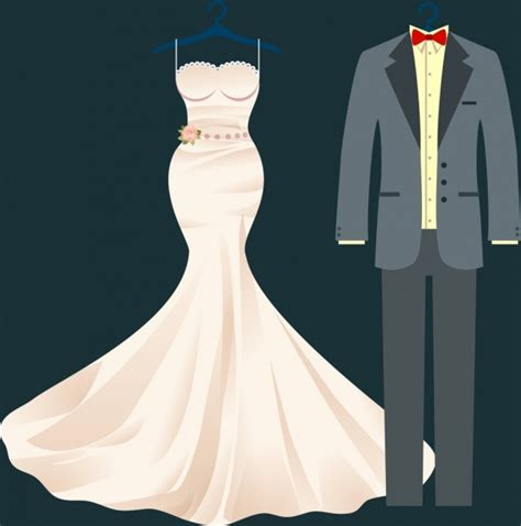 design clothes in illustrator wedding clothes design luxury formal style free vector in