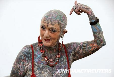 most tattooed person most senior tattooed in world