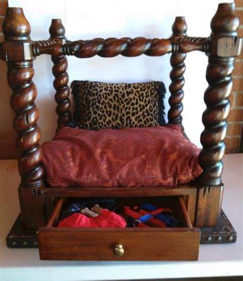 pet bed end table recycled end table canopy pet bed thriftyfun