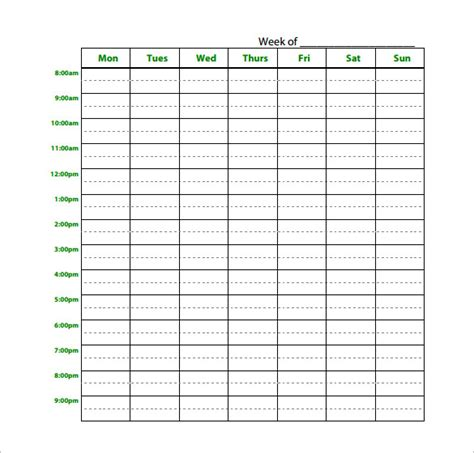 printable study planner study schedule templates 17 free sle exle format
