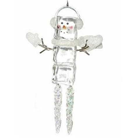 ice cube christmas tree snowman ornaments cubes and ornament on