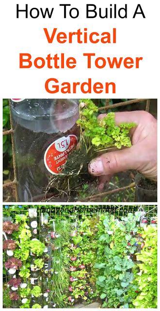 build  vertical bottle tower garden diy handy