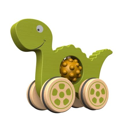 dinosaur rubber st nubble rumblers wooden rubber dino push