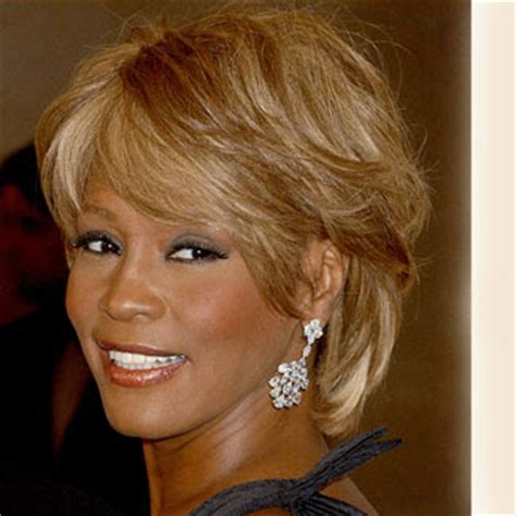 best haircuts in houston whitney houston short hairstyle