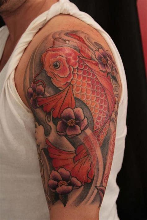 pinterest tattoo koi red koi fish tattoo on half sleeve tattoos pinterest