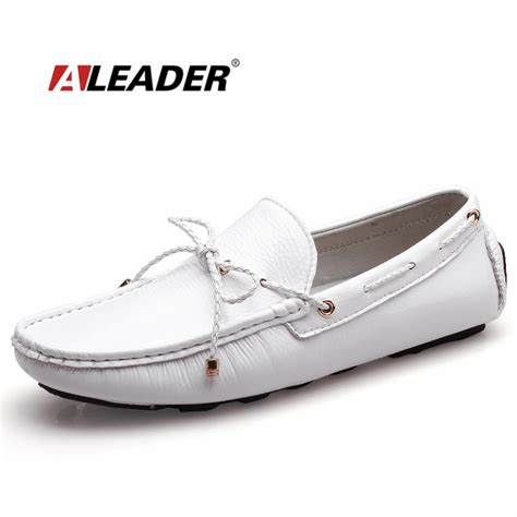 mens white leather loafers mens casual loafers shoes new 2017 autumn s patent