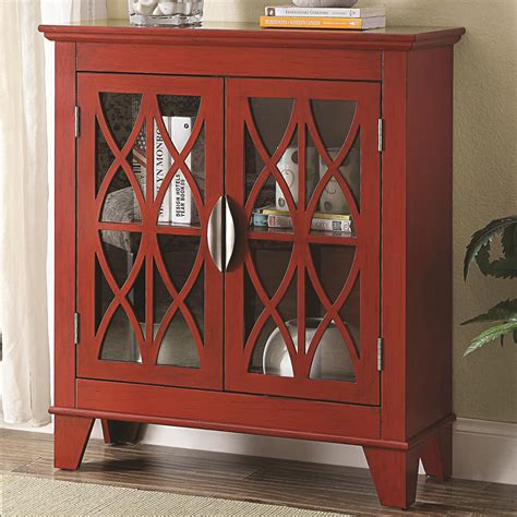 accent cabinet with glass doors coaster 950312