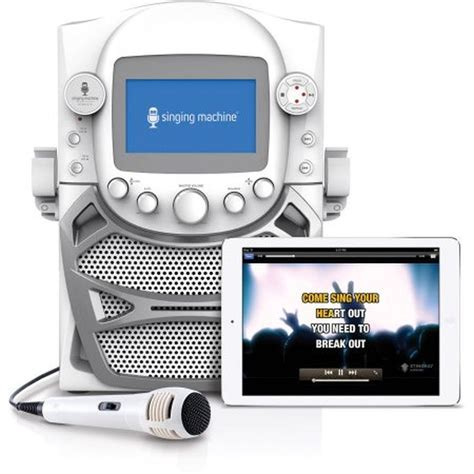singing machine bluetooth karaoke system with disco lights singing machine cd g karaoke bluetooth system microphone