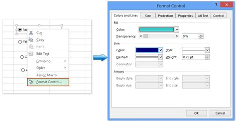 format control buttons excel 2007 how to insert radio buttons or option buttons in excel
