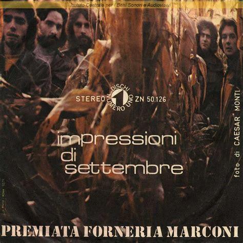 testo impressioni di settembre premiata forneria marconi discografia cover