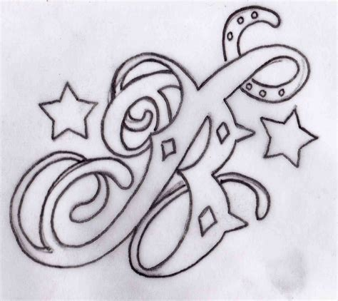 letter tattoo design butler b design