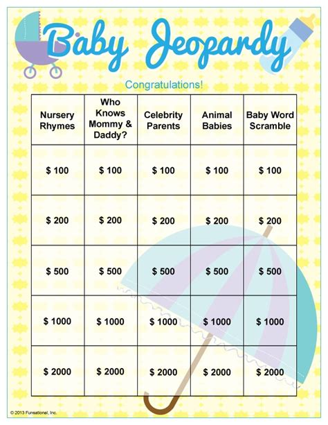 printable jeopardy games best photos of baby shower jeopardy baby shower jeopardy