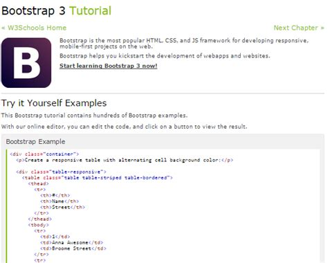 bootstrap tutorial in w3schools learn twitter bootstrap best tutorial point for beginners